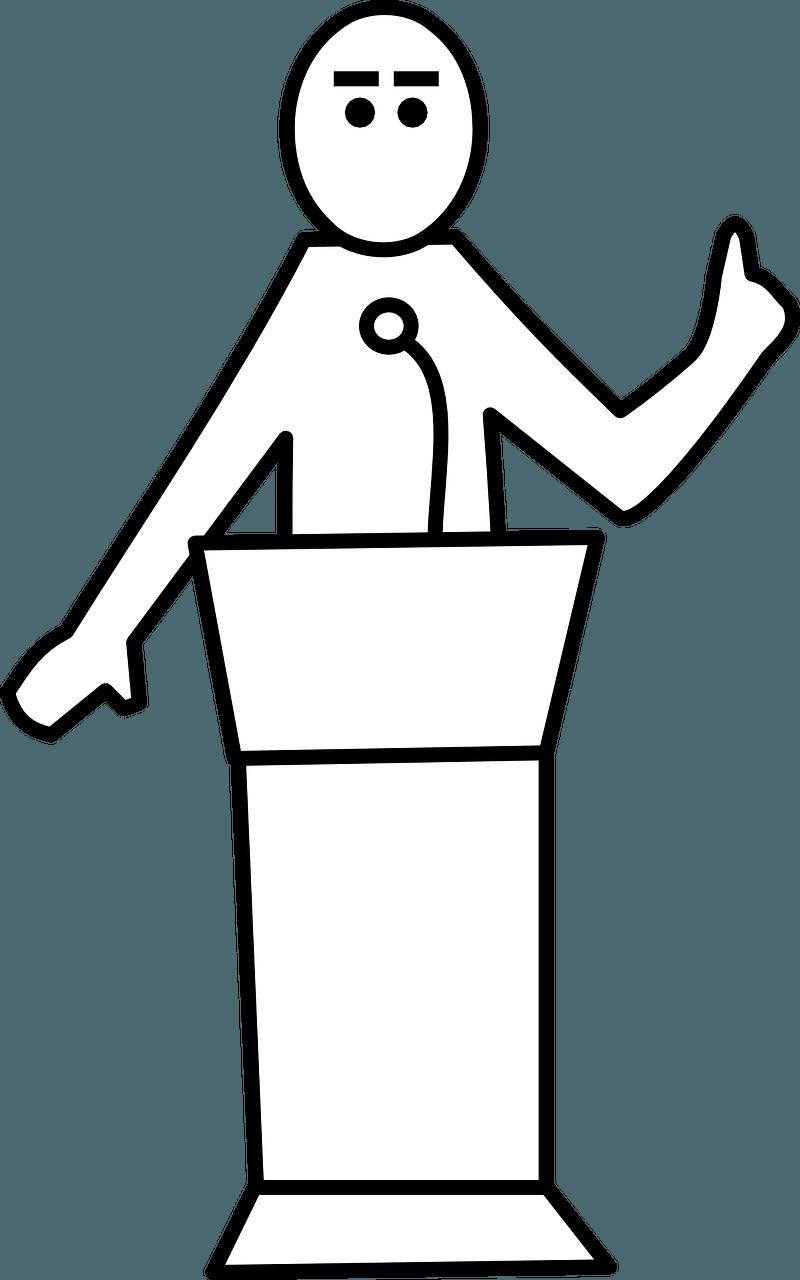 Speakers public speech