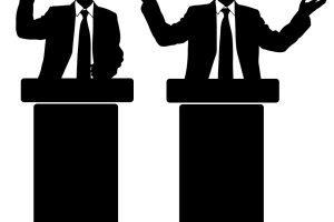 Speech and portal . Debate clipart speach