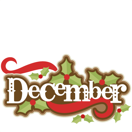 December clipart. Title svg scrapbook cut