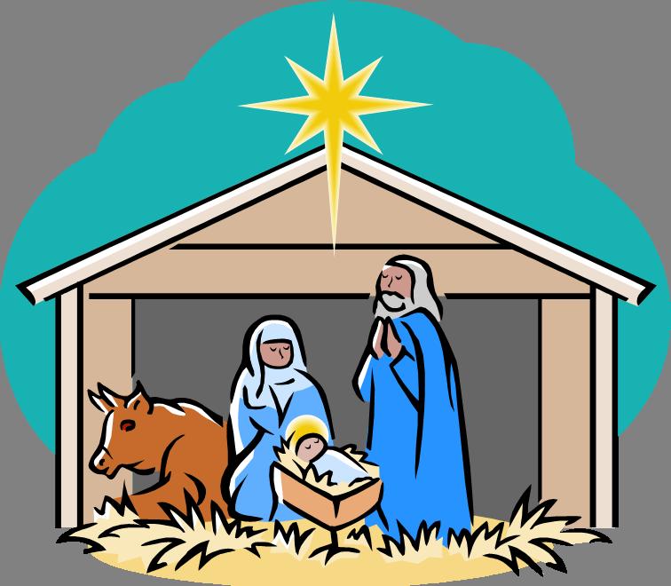 Nativity fifth avenue united. December clipart children's