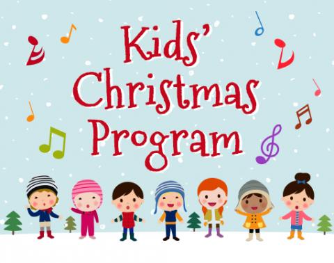 Kids christmas program harbor. December clipart children's