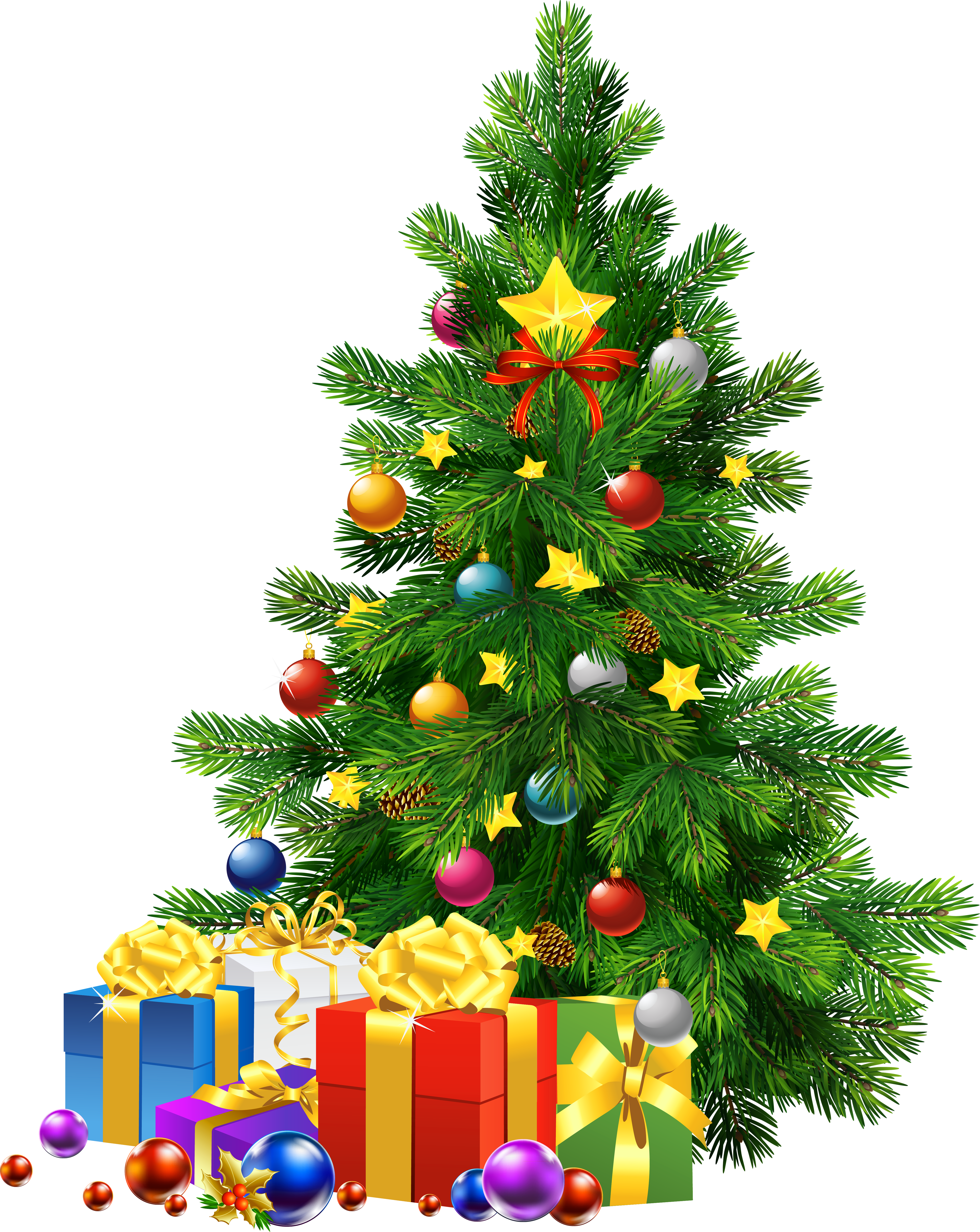 December clipart christmas tree. Large transparent png with