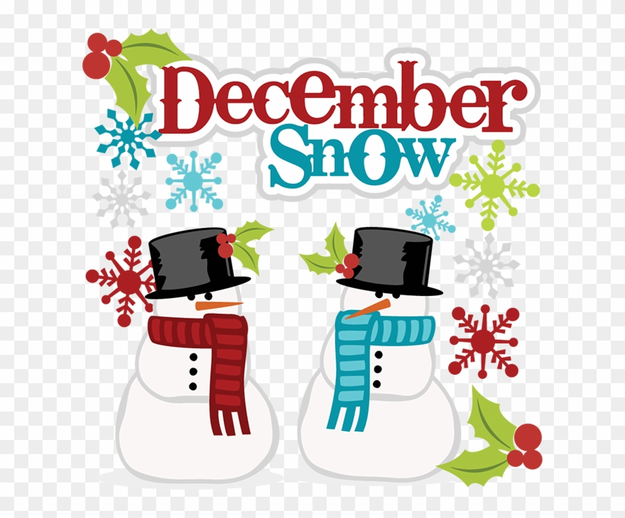 December clipart december snow. Png download
