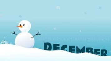 December clipart december snow. Free