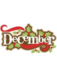 Free month clip art. December clipart december snow