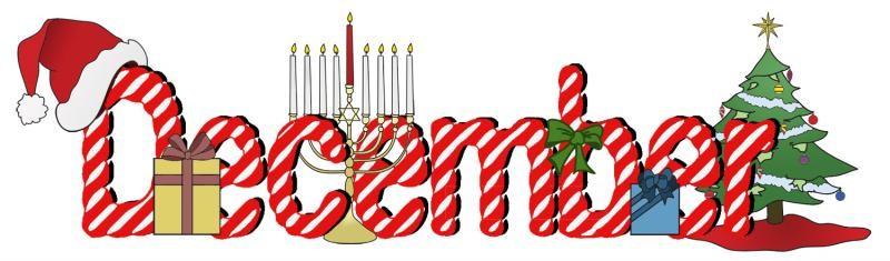 December clipart december word, December december word ...