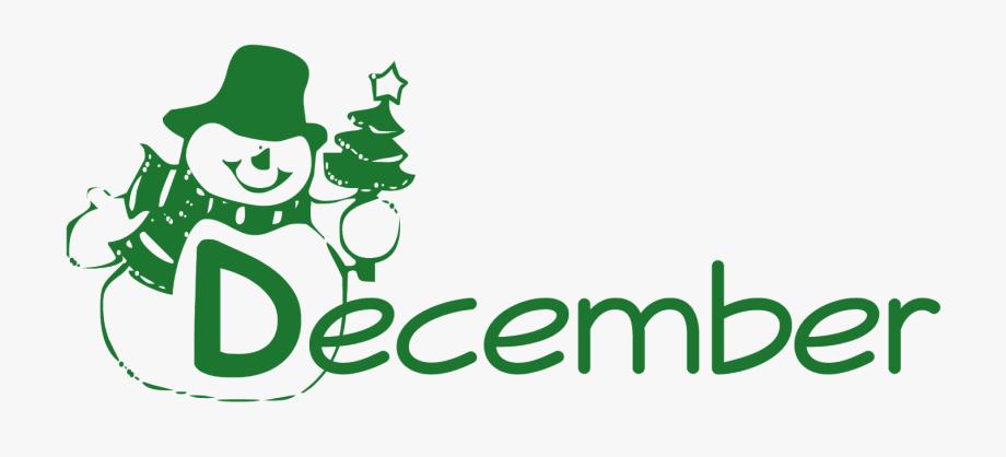 December clipart design. Word png transparent