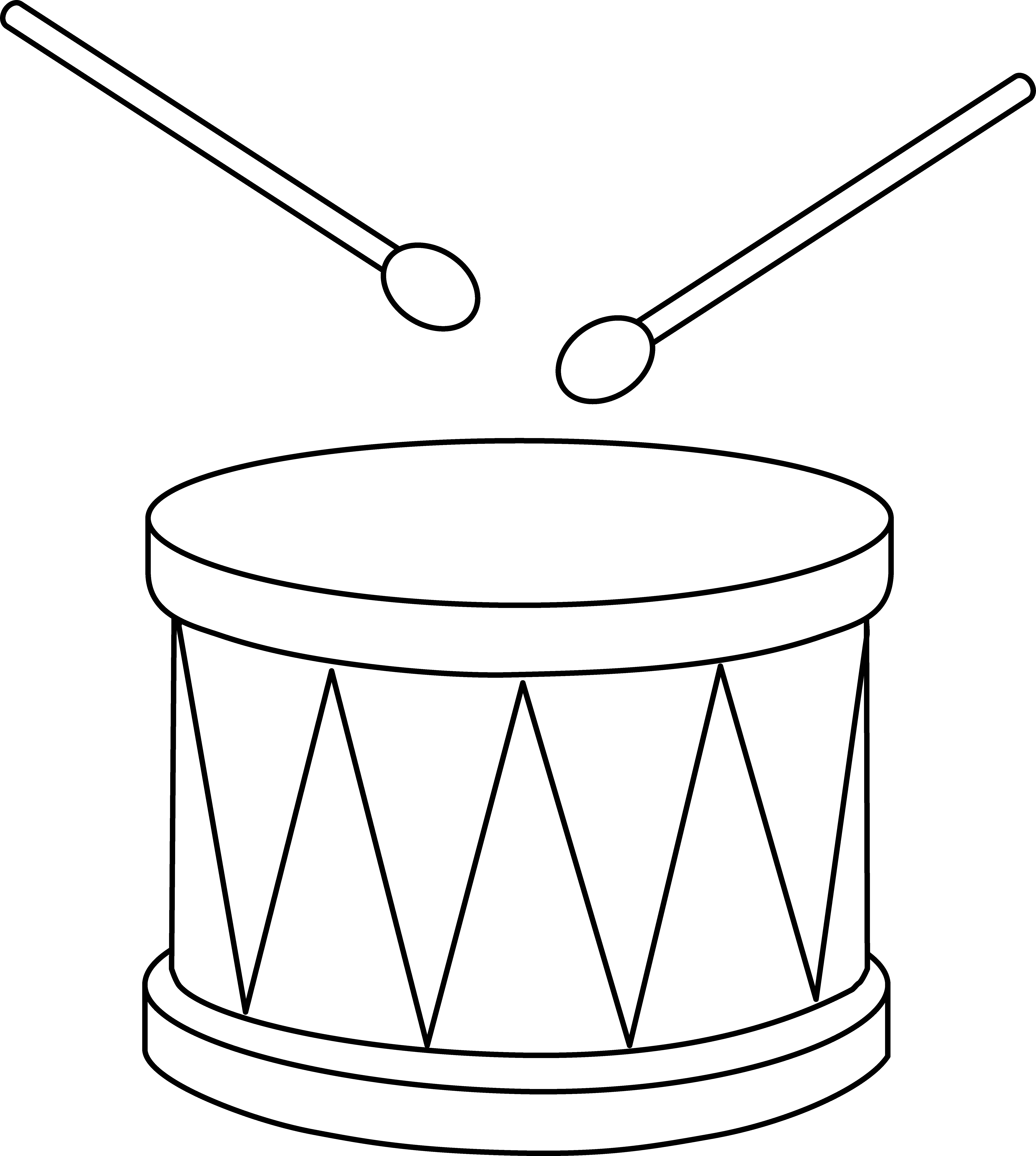 Musical instruments black and. Drum clipart toy drum