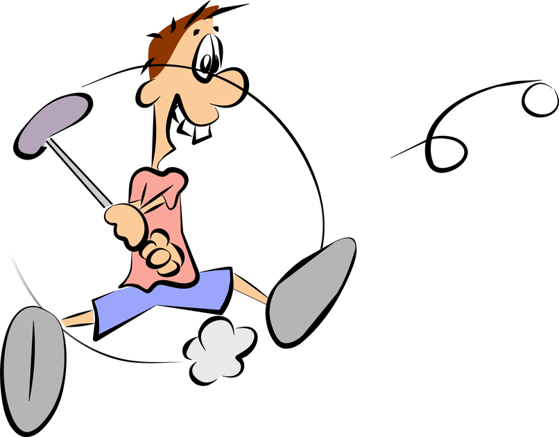 Cartoon golf reviewwalls co. December clipart golfing