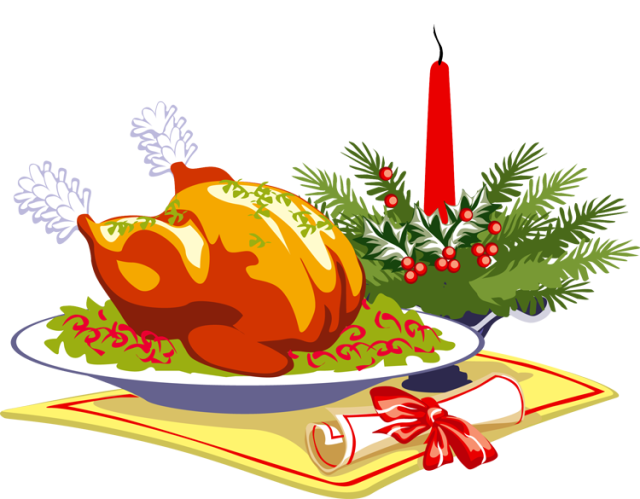 Leicester elementary. Dinner clipart holiday meal