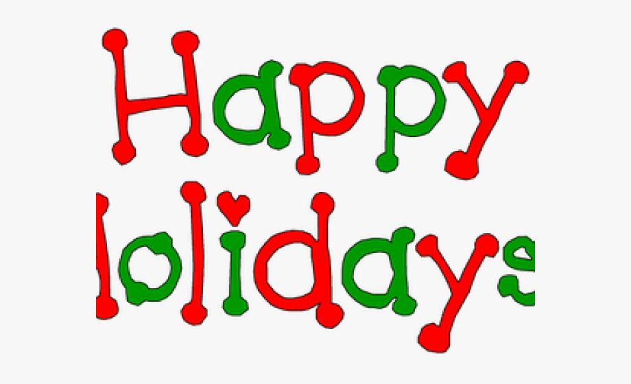 December clipart holiday season. Holydays happy holidays clip
