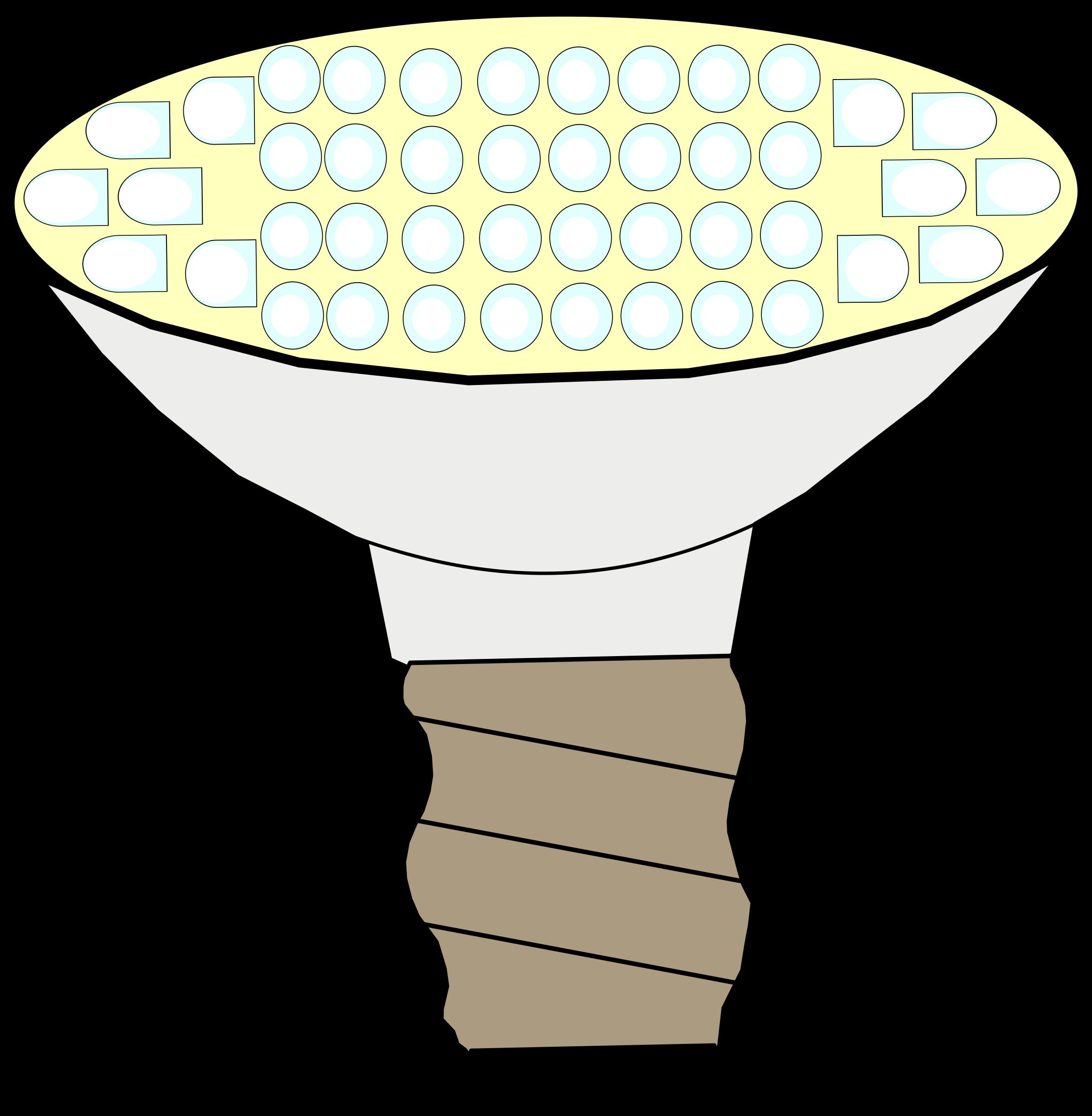 Lamp clipart brain.  great led light