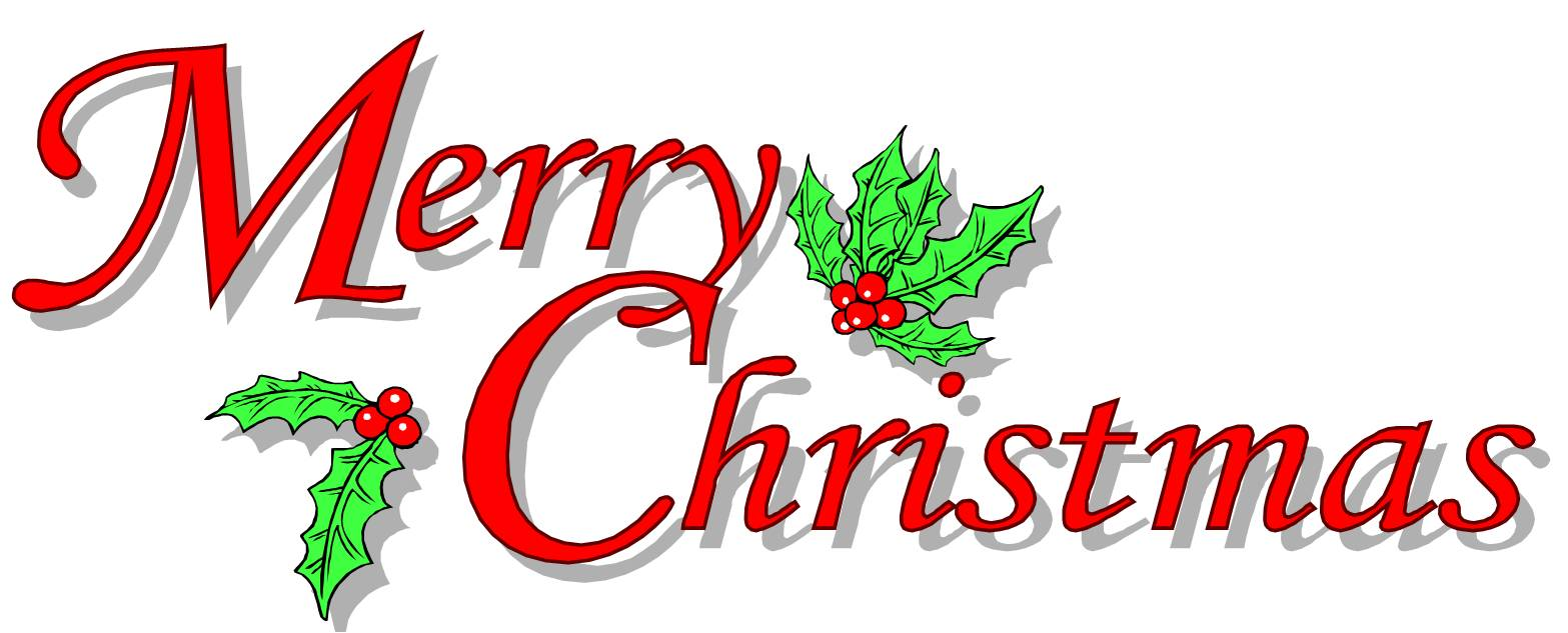 December clipart merry christmas. Banner clip art library