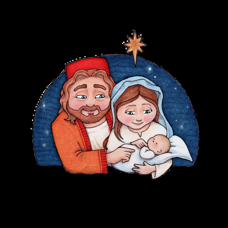 Nativity clipart joseph mary. Susan fitch design merry