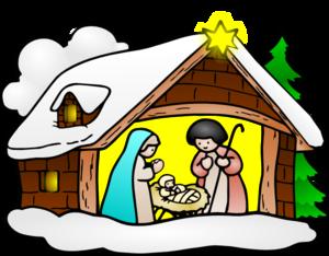 Scene clip art panda. Nativity clipart december