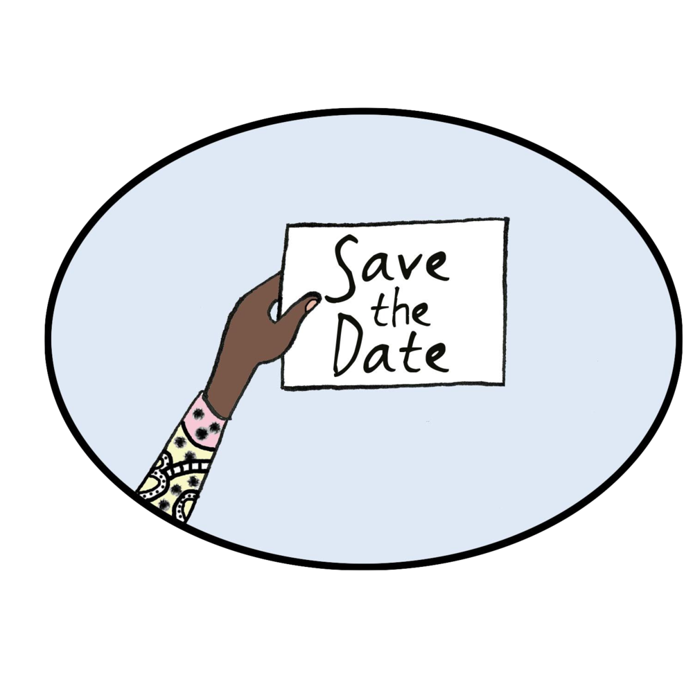 December clipart save the date. Mindful games book party