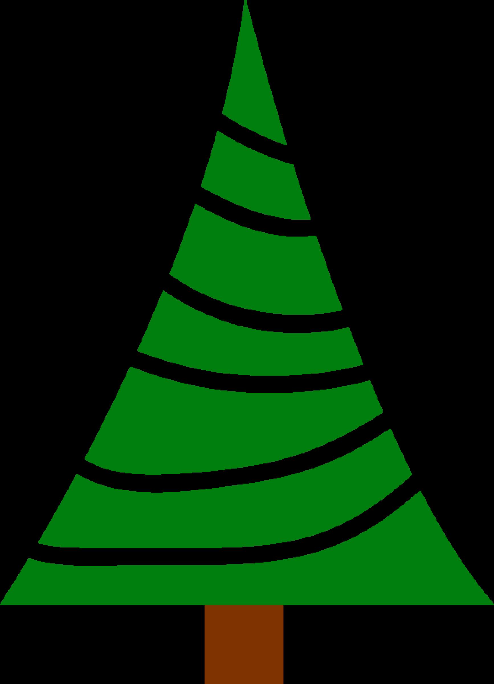 Christmas tree big image. December clipart simple