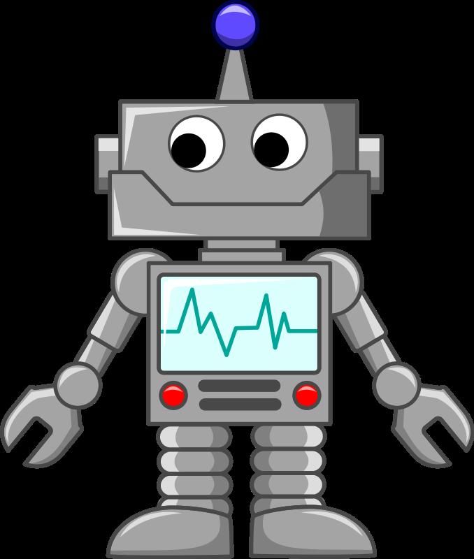 December clipart technology. Image cartoon robot png