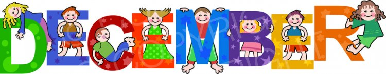 Kids months of the. December clipart toddler