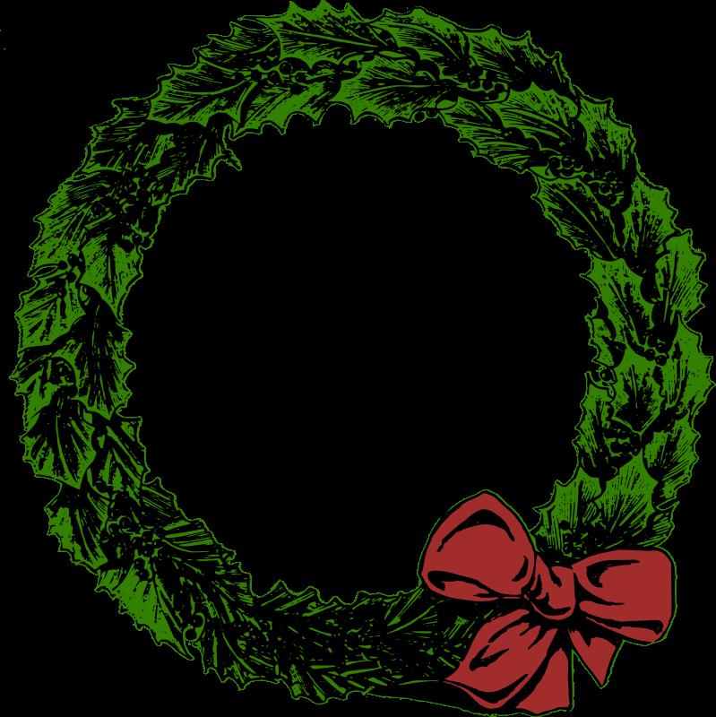December clipart wreath. Xmas medium image png