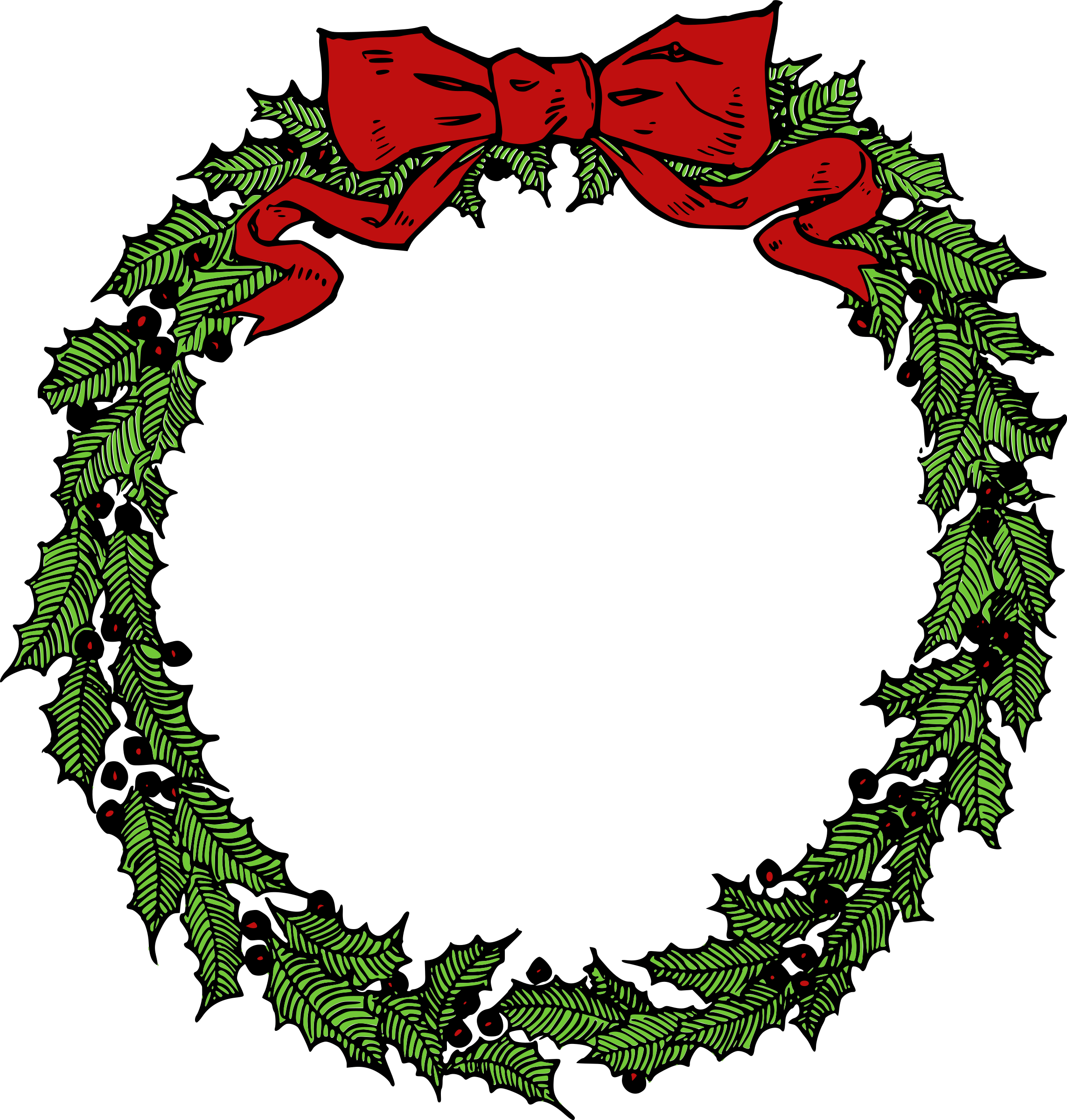 December clipart wreath. Big image png