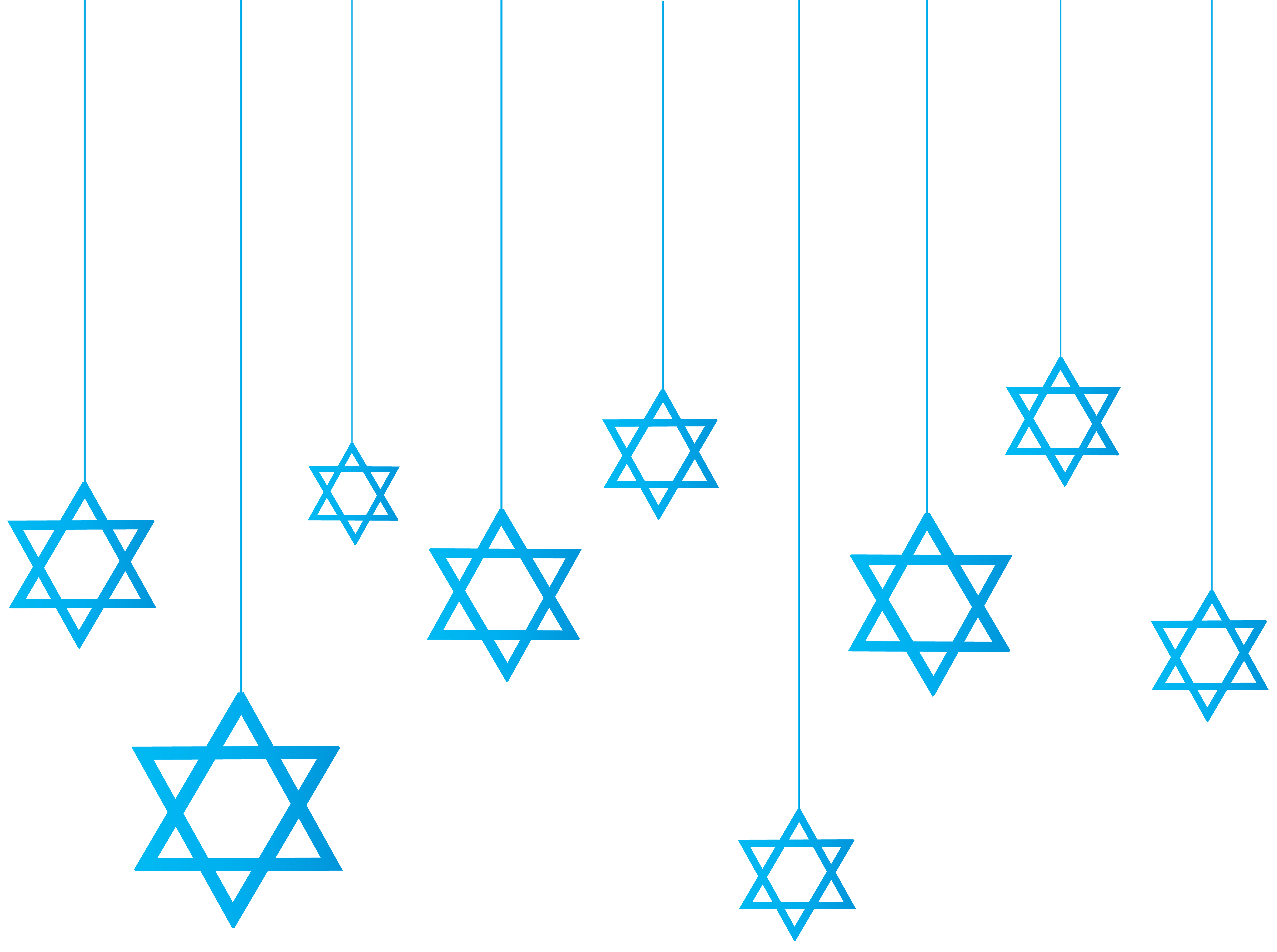 Number clipart decorative. Star of david hanging