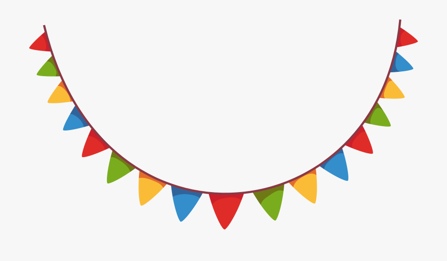 Streamers clipart decorating. Festival streamer party decoration