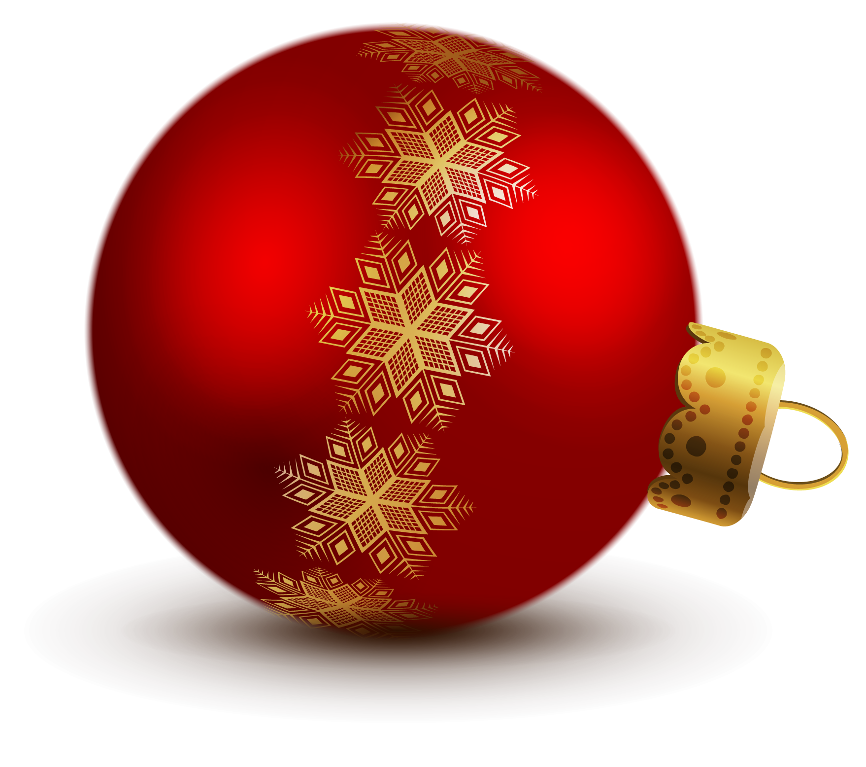 Transparent Red Christmas Ball Ornaments Clipart