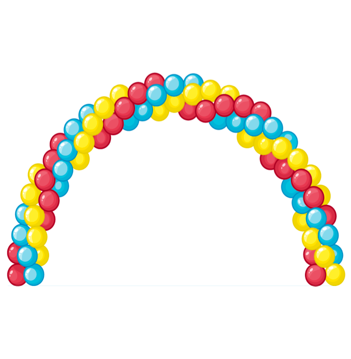 Garland clipart balloon. Arch bunch of balloons