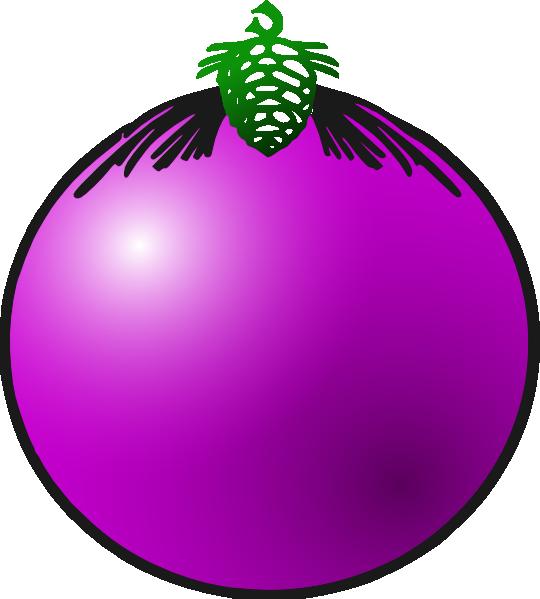 Decoration clipart bauble. Purple clip art at