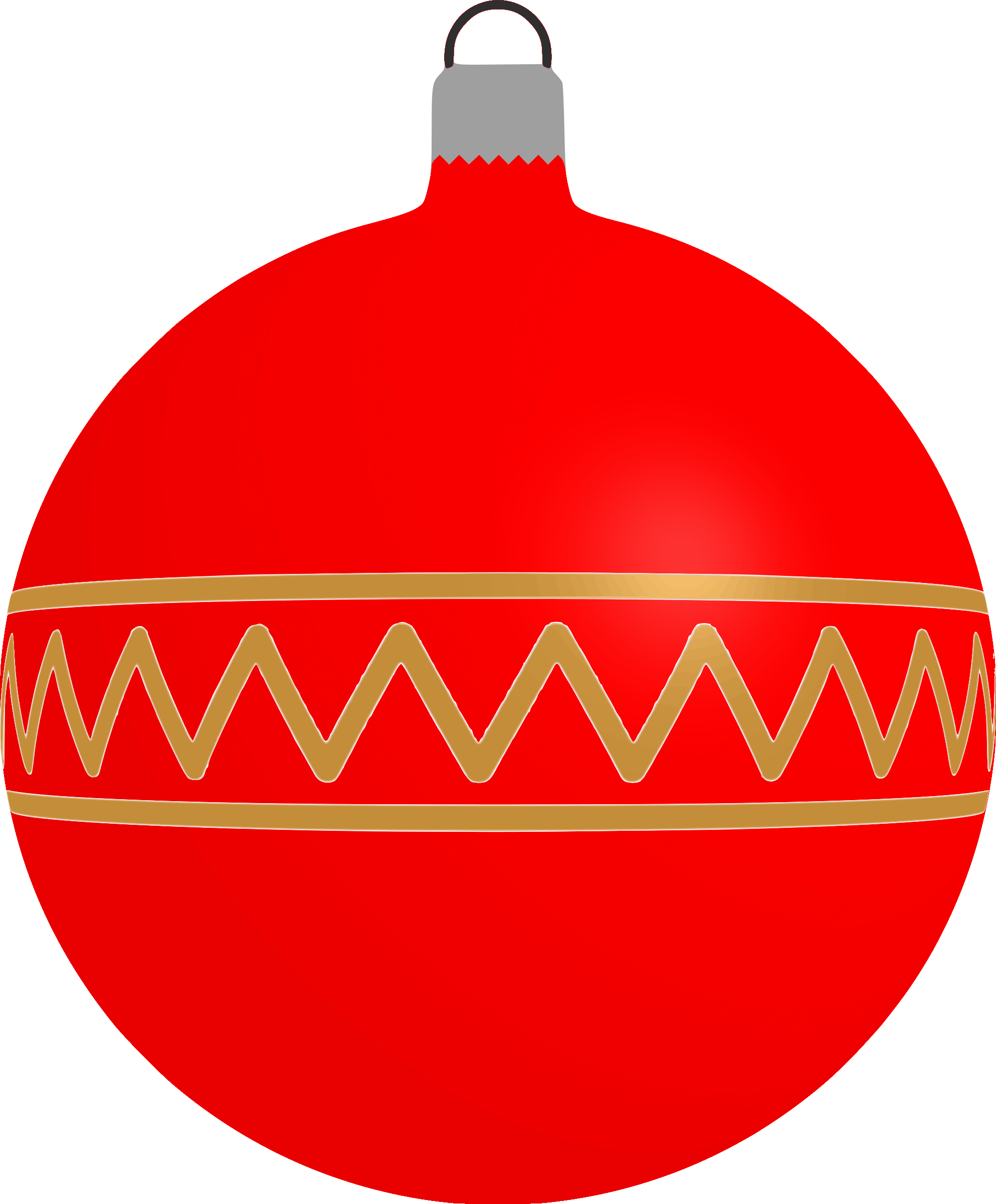 Patterned red big image. Decoration clipart bauble