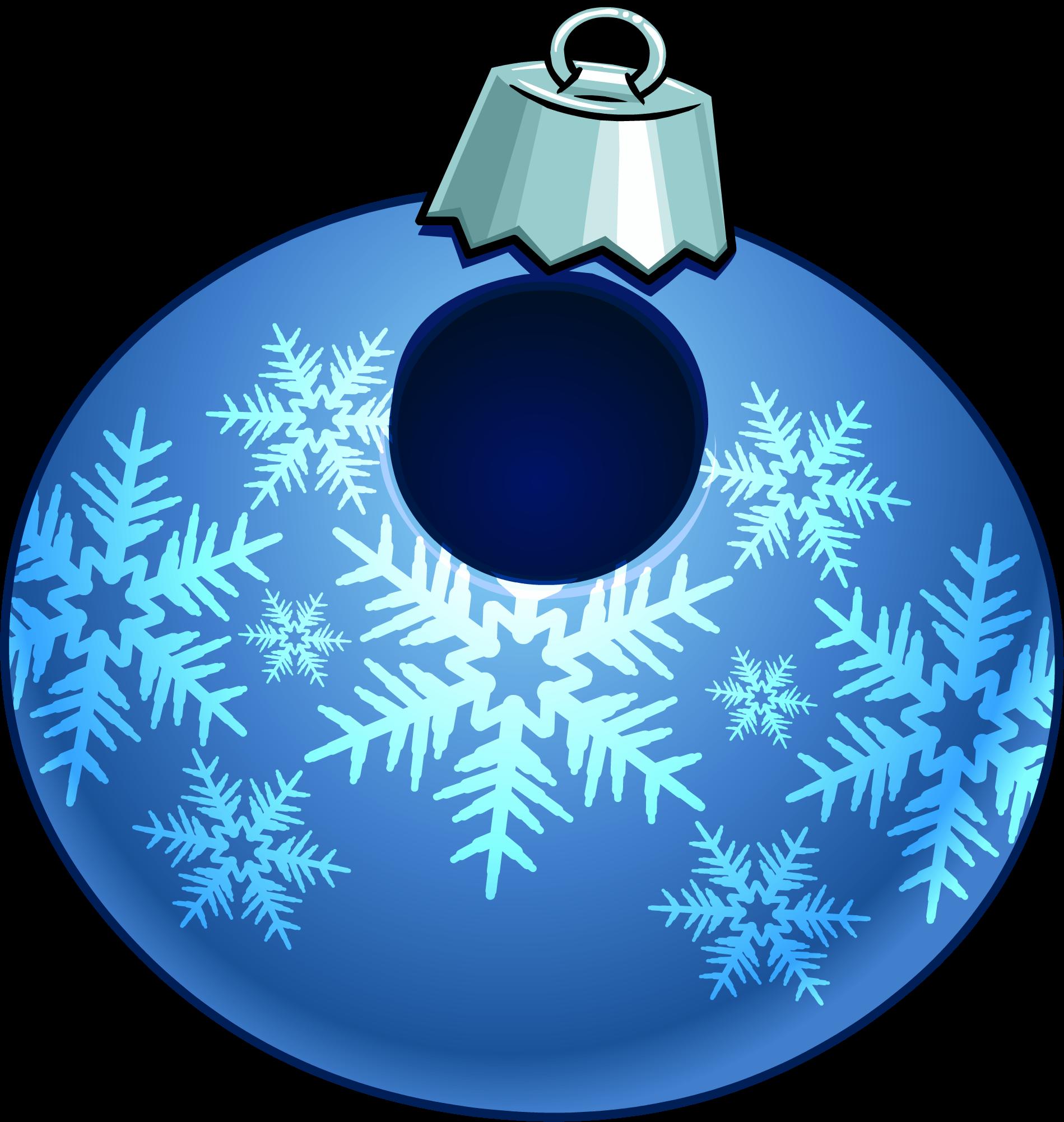 Decoration clipart bauble. Blue snowflake club penguin