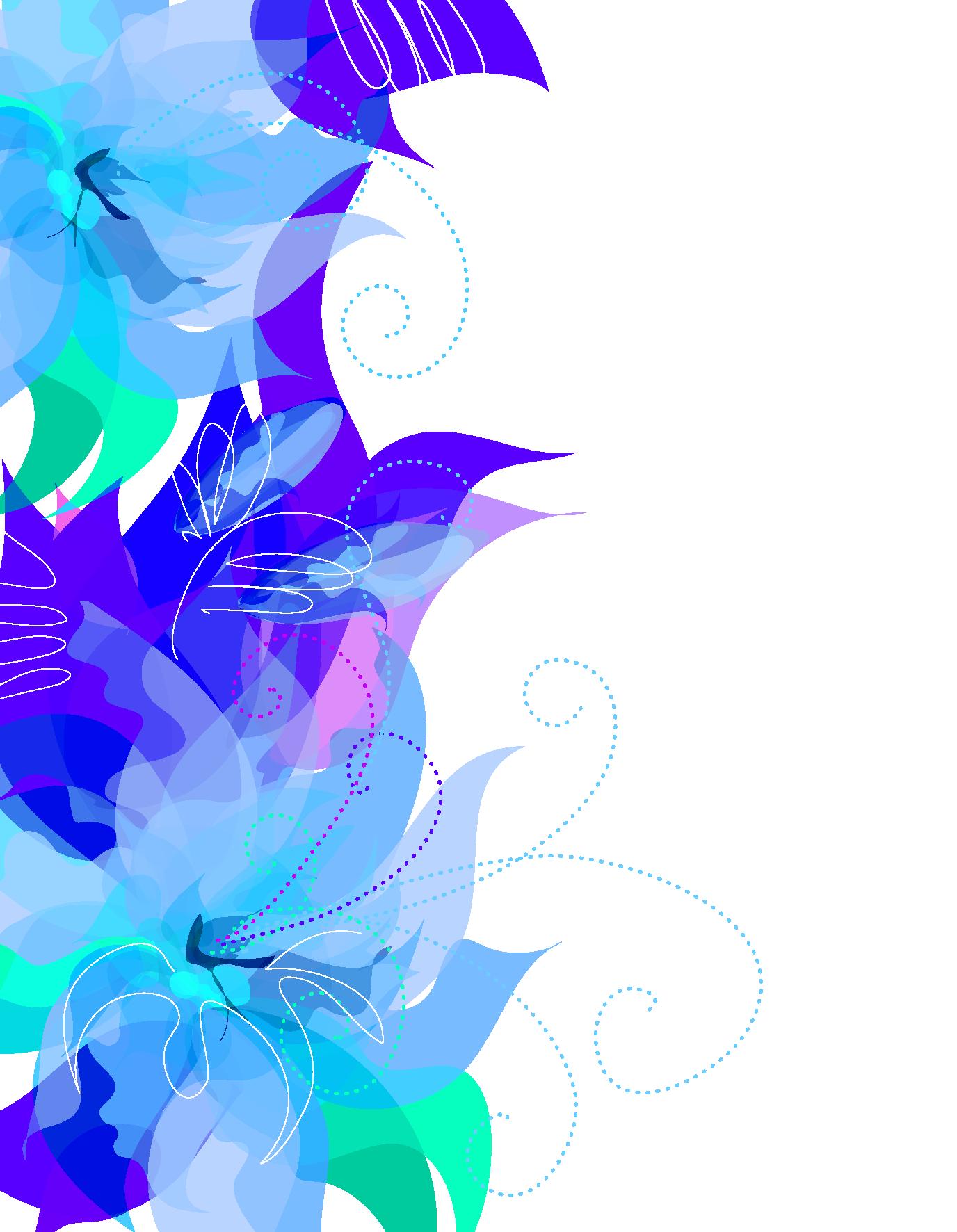 Decorative clipart cute. Blue floral decoration transparent