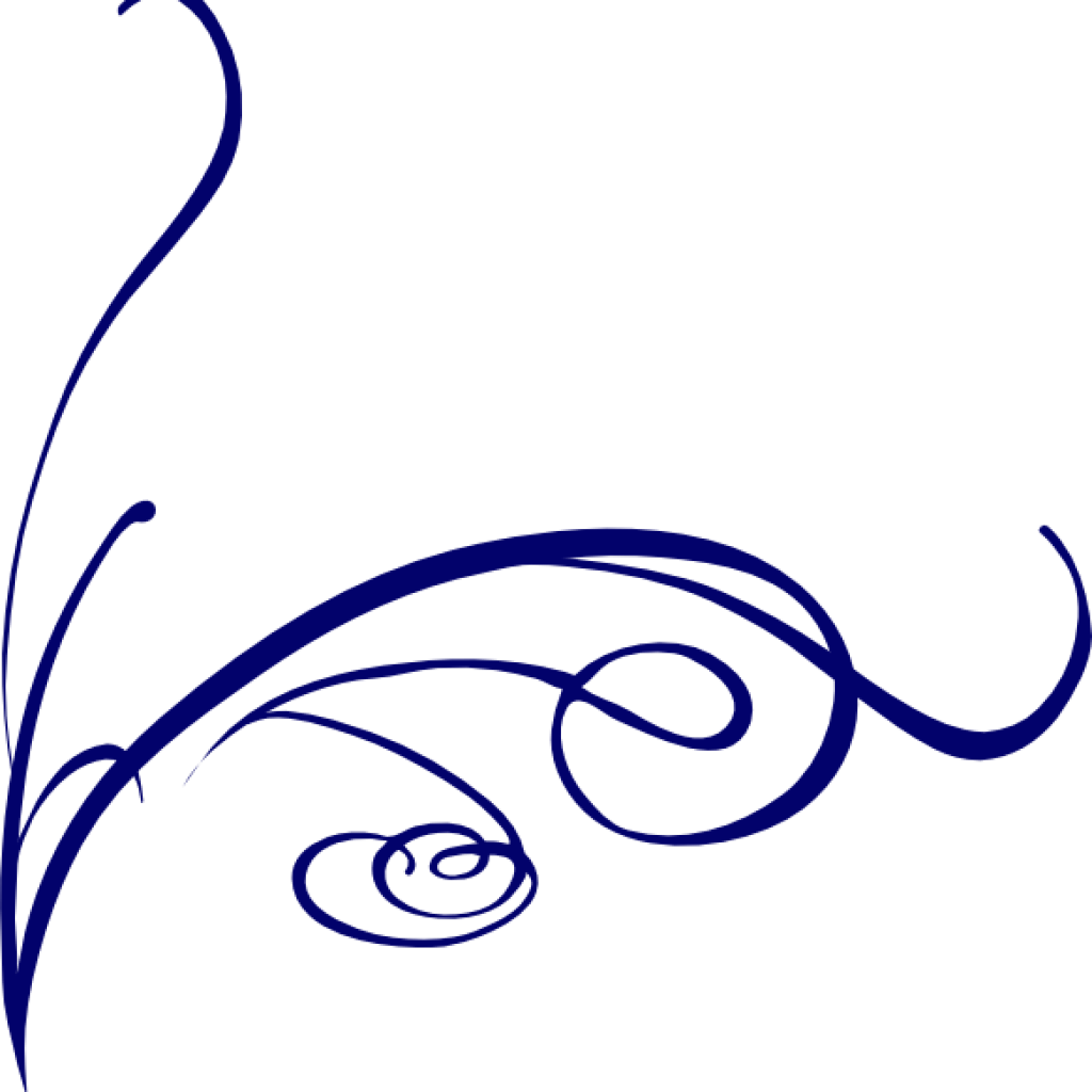 Fancy flower hatenylo com. Lines clipart blue