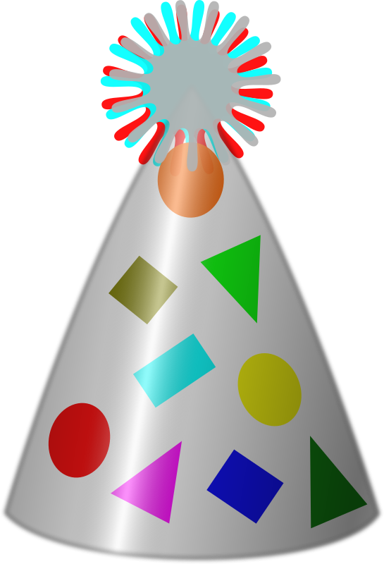 Decoration clipart cartoon party. Hat medium image png