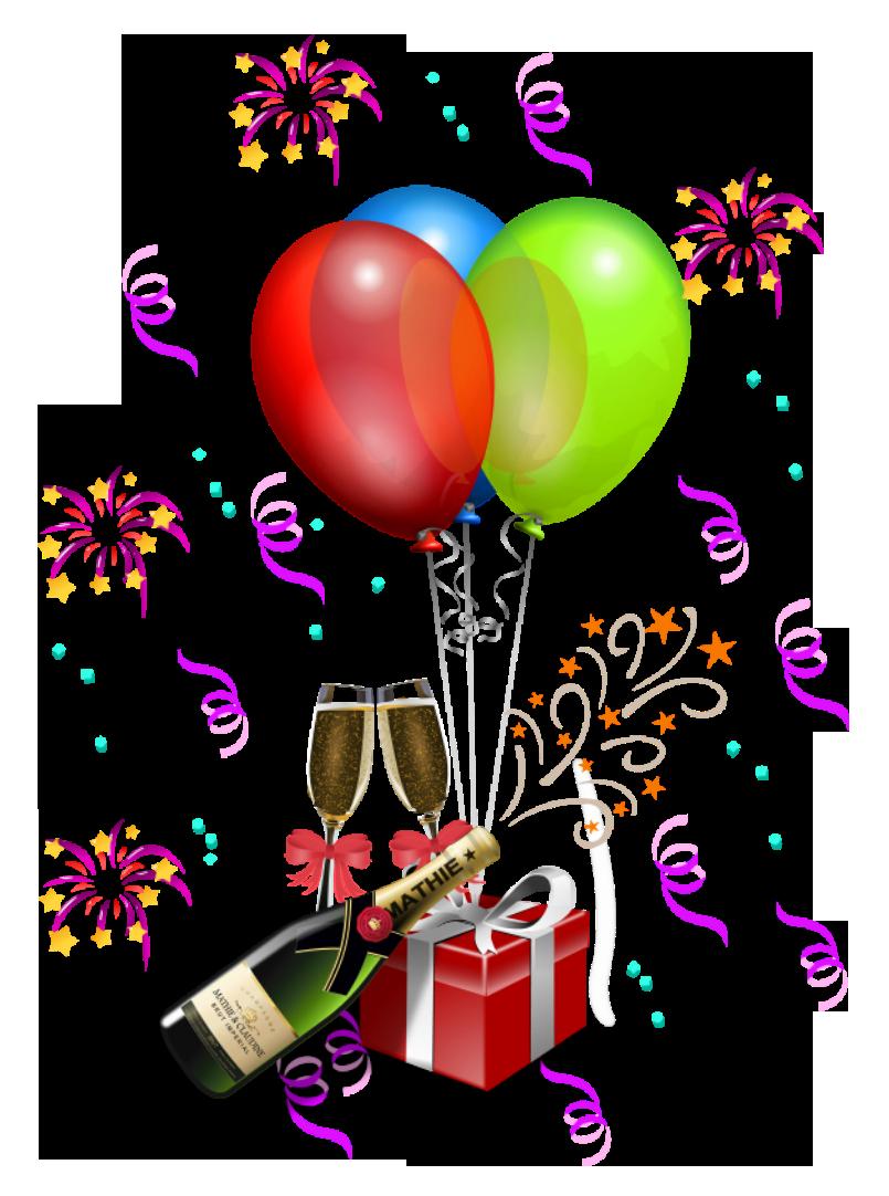 Party decoration transparent png. Gold clipart celebration