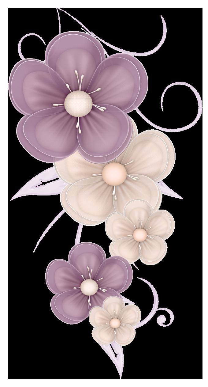 Flowers decor png picture. Decorative clipart cute
