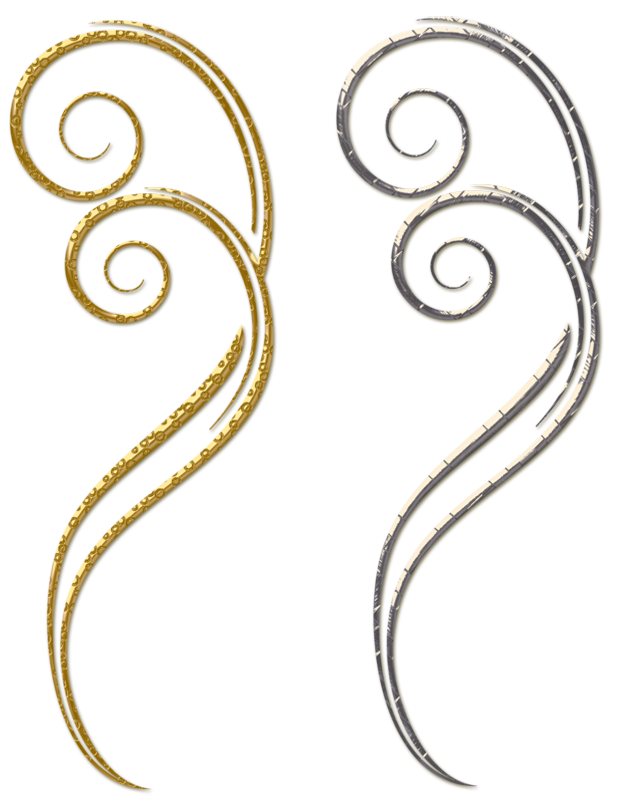 Gold and silver decorative. Ornament clipart jewellery logo