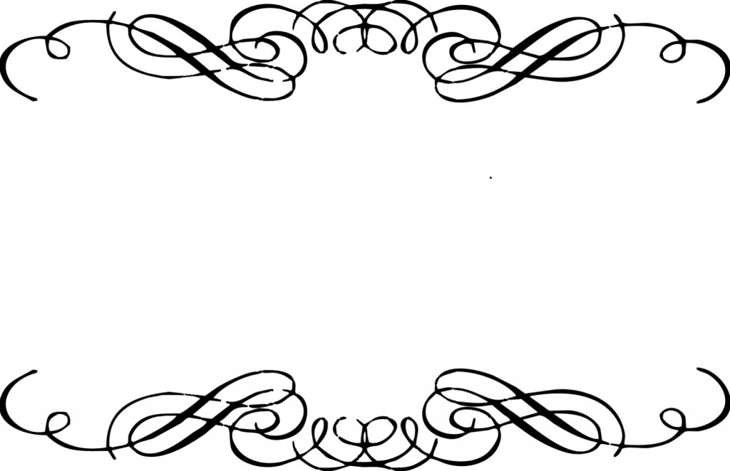 Funeral clipart scrollwork. Fancy lines free download