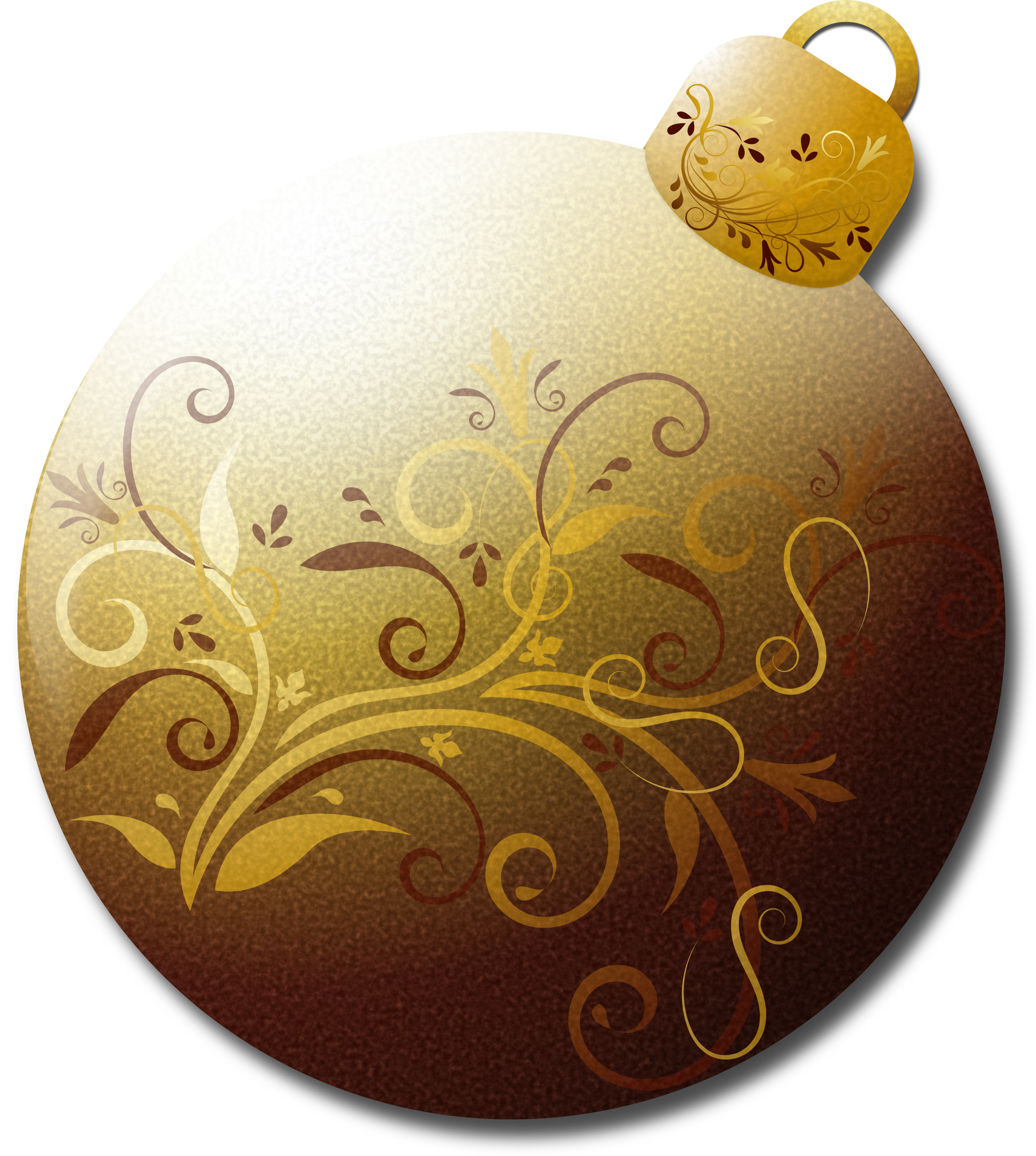 Glass clipart brown. Gold ornament big image