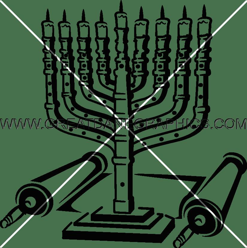 Decoration clipart hanukkah. Menorah dreidel production ready
