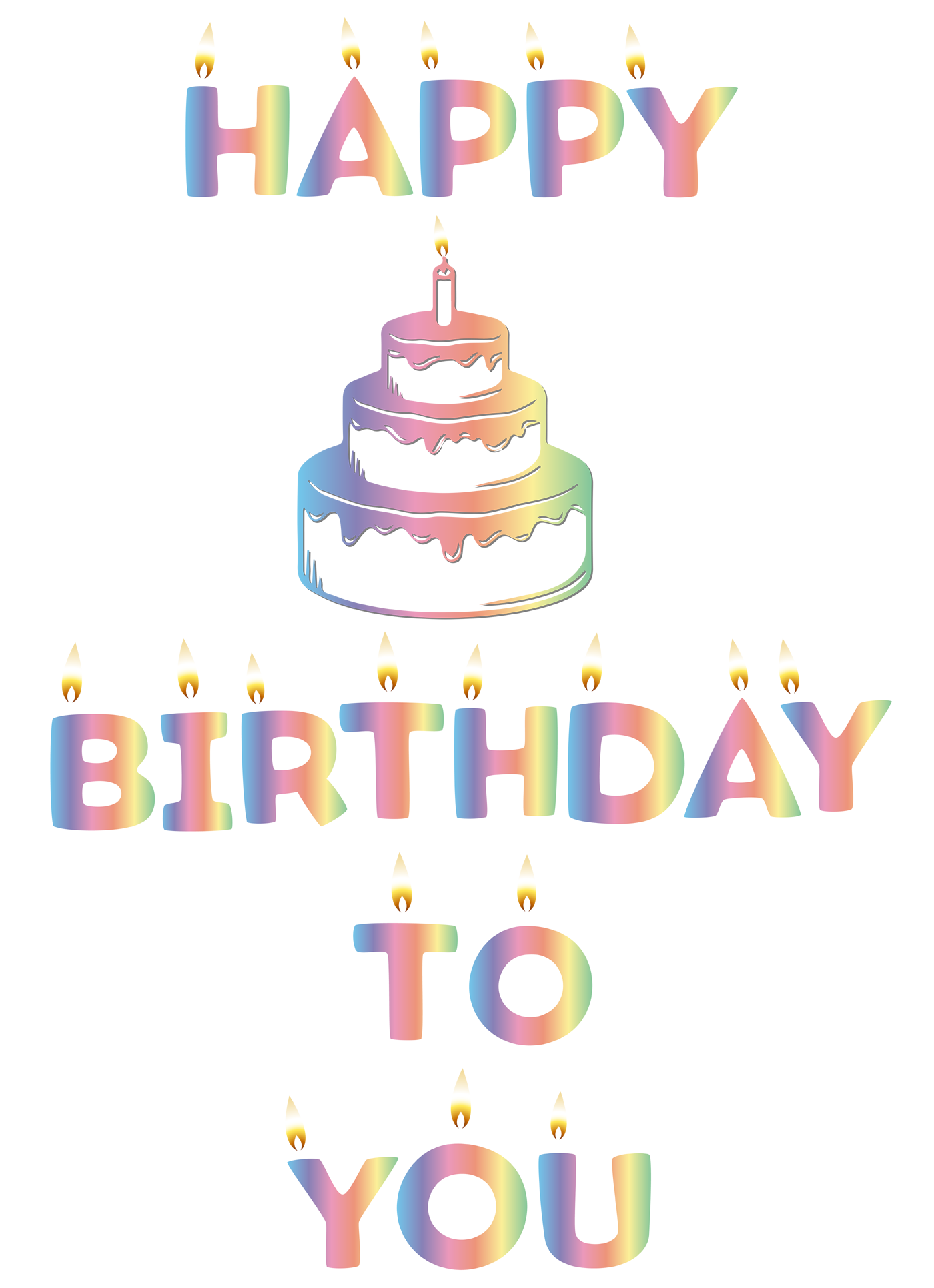 Decoration clipart happy birthday. Text art design in