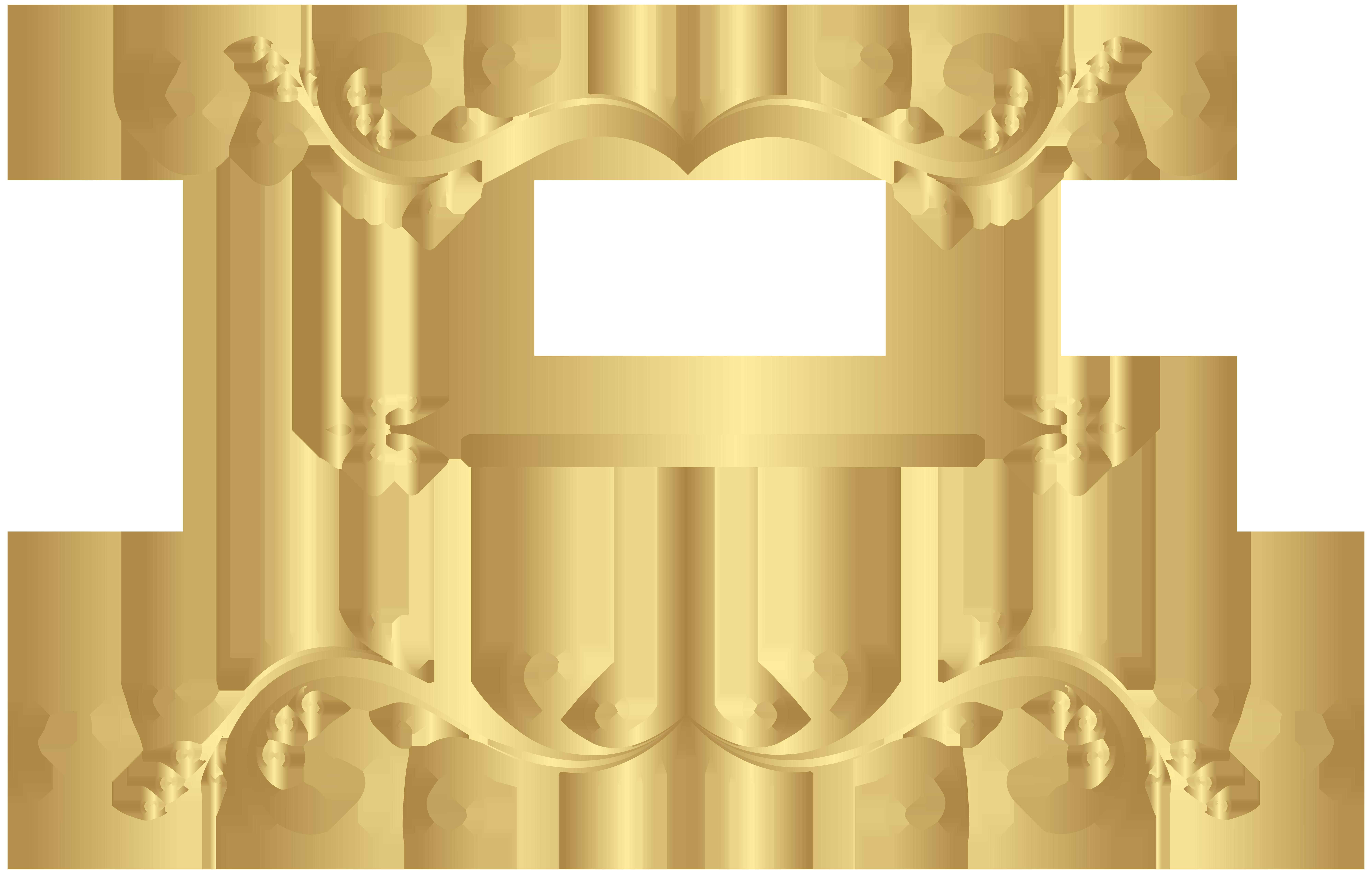 Decorative ornaments png clip. Divider clipart gold