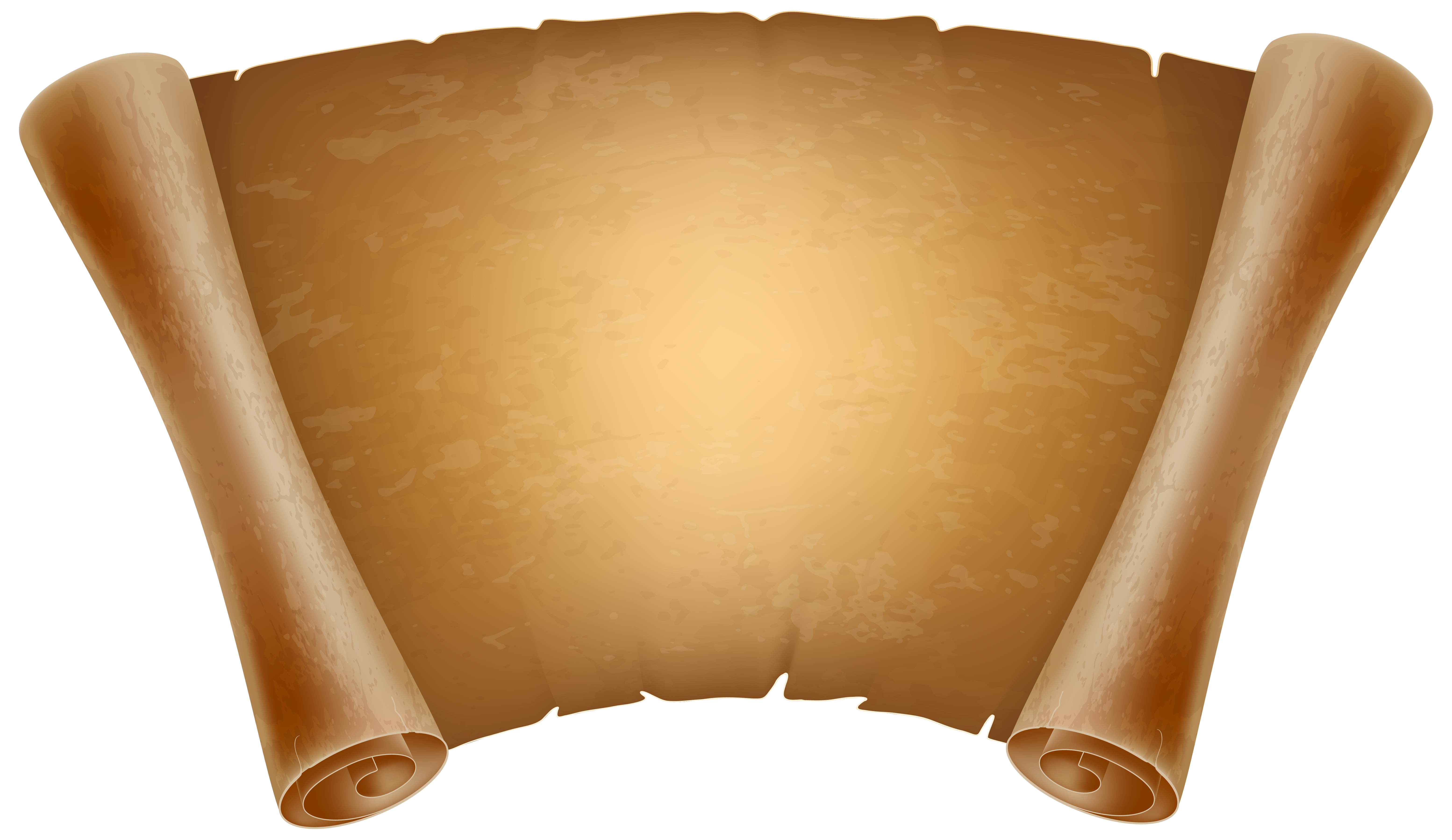 Old papyrus decorative png. Scroll clipart ancient scroll