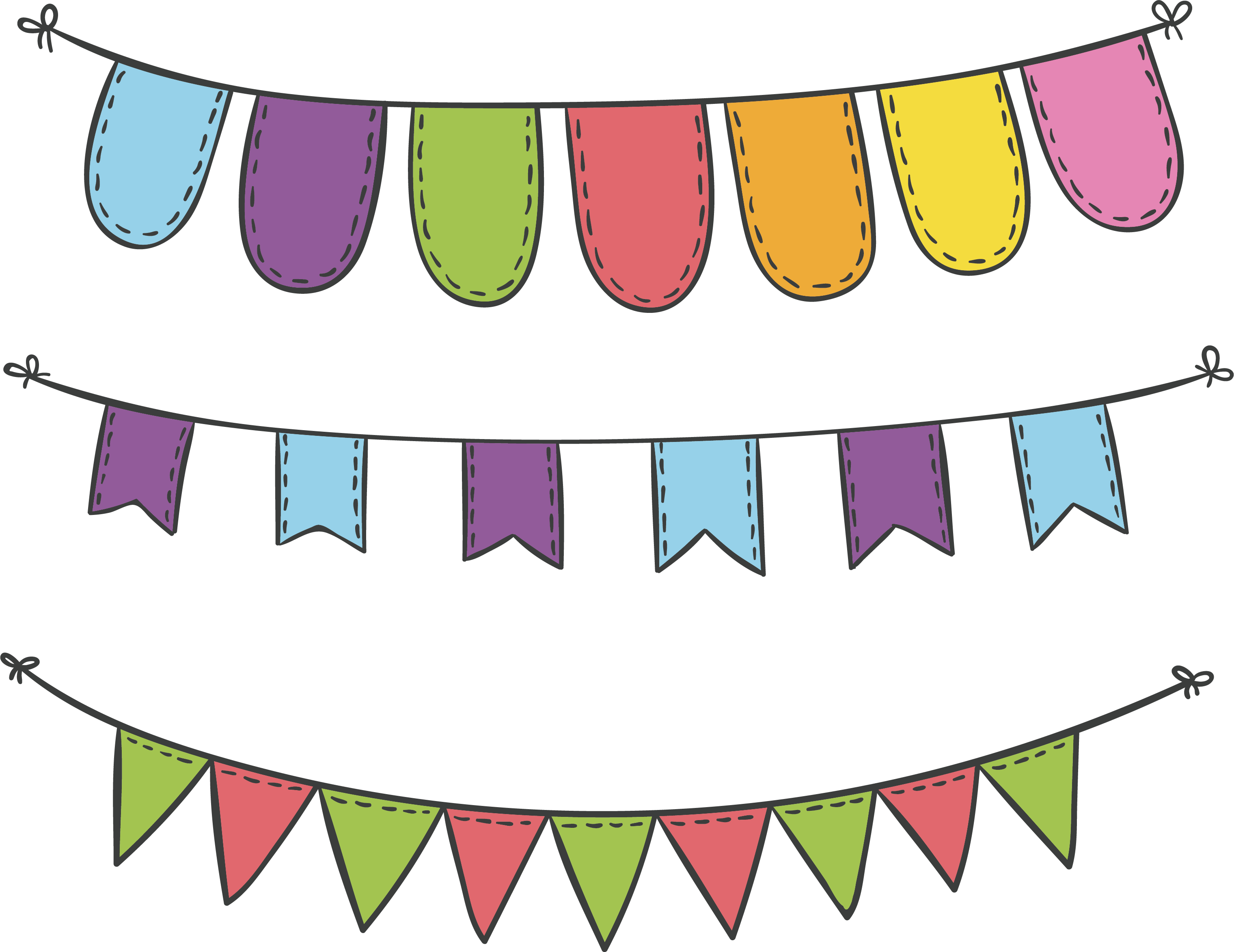 Party clipart party banner. Sky lantern flag carnival