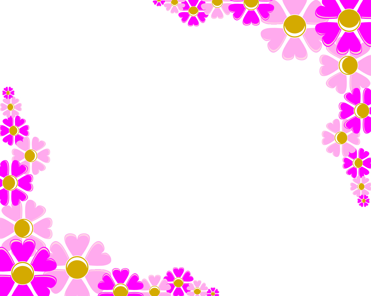 Decoration clipart powerpoint presentation. Pink flower corner backgrounds