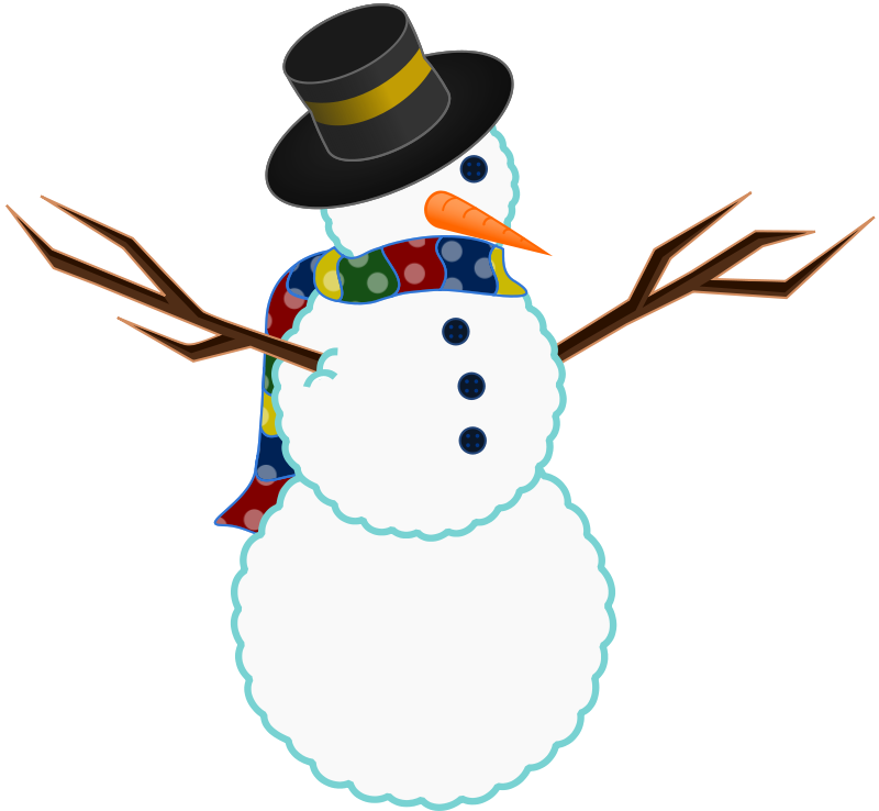 Snowman clipart colorful. Cheerleader free images clipartix