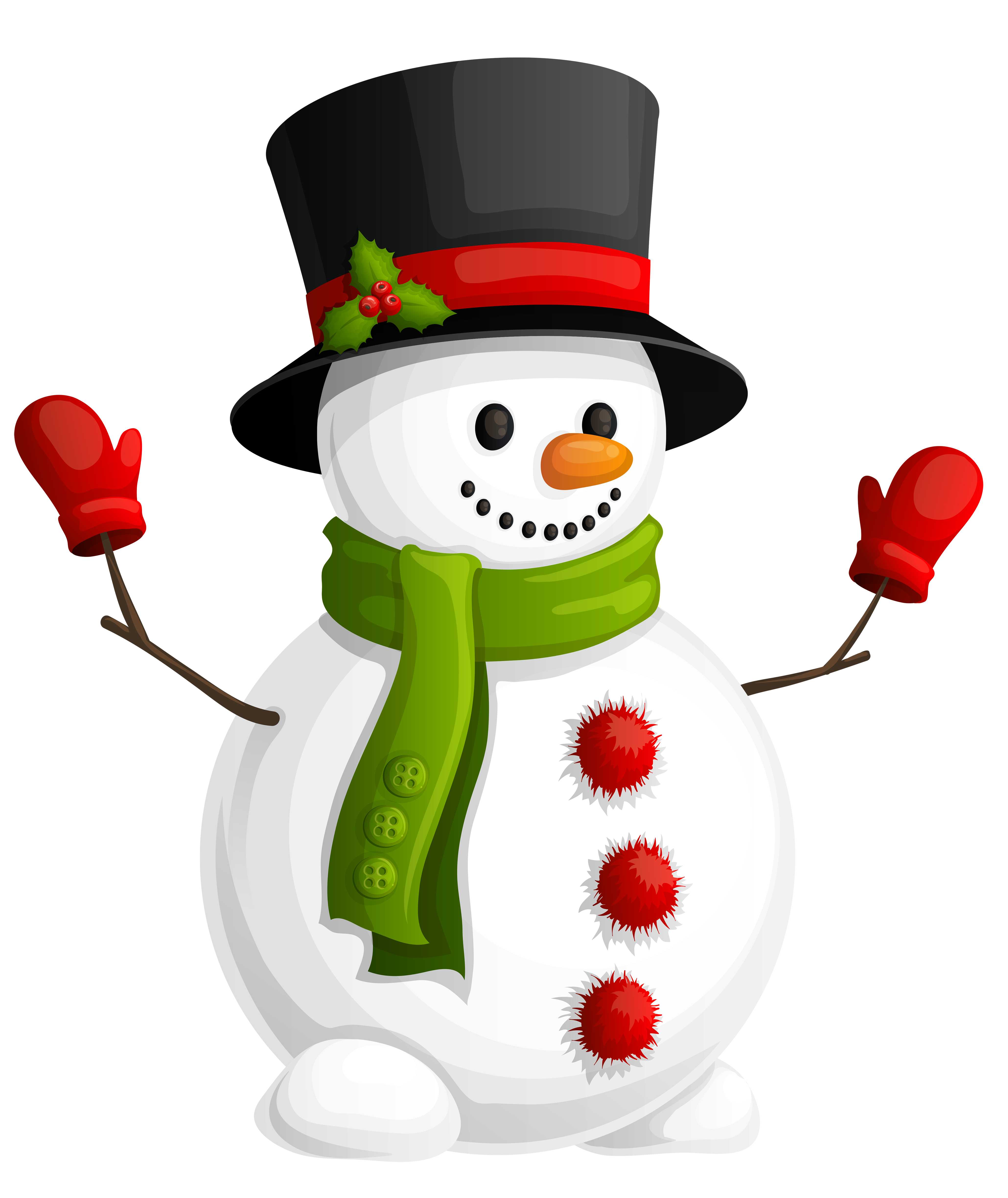 Snowman clipart green. Christmas ornament decoration
