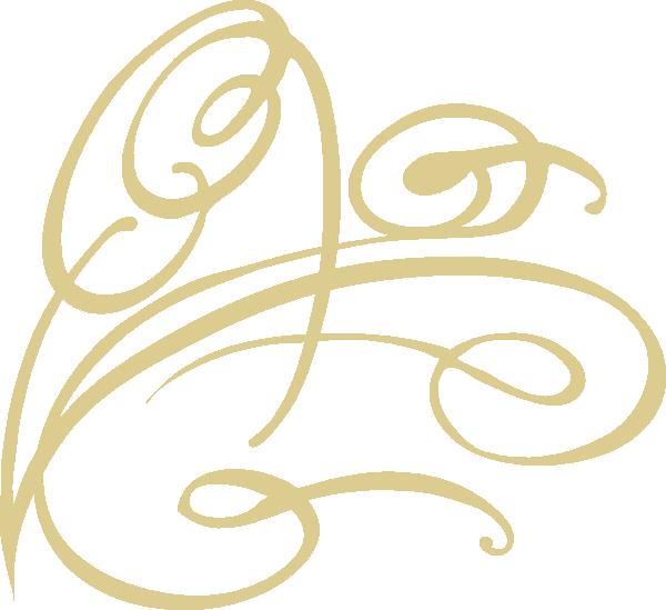 Swirl gold clip art. R clipart decorative
