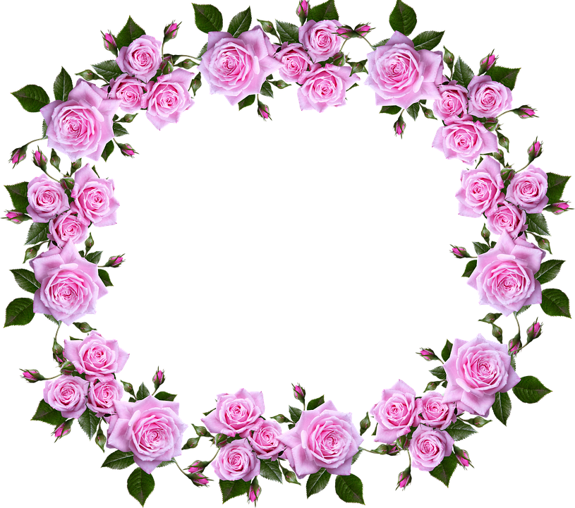Decorative border png. Free photo floral roses